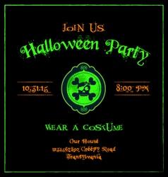 Halloween invitation cameo skulls template vector image