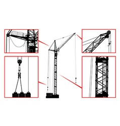 High detailed hoisting crane vector image vector image