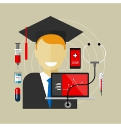 Medical health college education class graduate vector