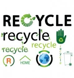 recycle logos vector image vector image
