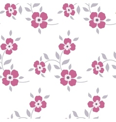 Seamless floral pattern Marsala flowers leaves vector image vector image