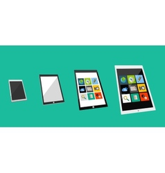 3d tablet flat concept vector image vector image