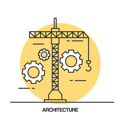architectural design set icons vector image