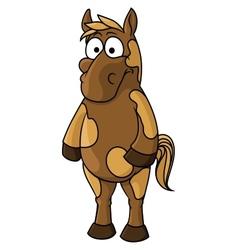 Cartoon horse character vector image vector image