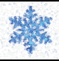 Seamless pattern geometric snowflake vector image