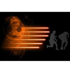 soccer modern background grey vector image