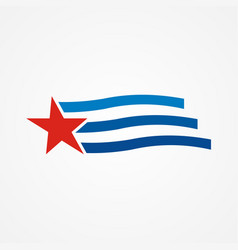 star flag line america logo vector image