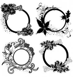 vintage black frames vector image
