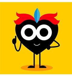Black Heart Boy vector image vector image