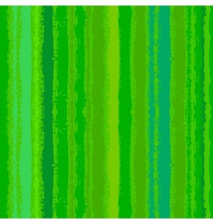 Striped pattern with brushed lines in green vector image vector image