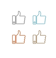 Thumbs up like modern icon flat design vector image vector image