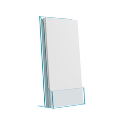 3d flyer glass or plastic holder stand vector
