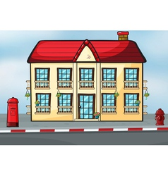 A house and mailbox vector