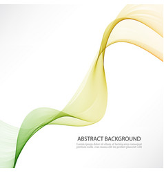 Abstract color wave design element vector