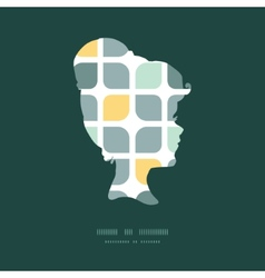 Abstract gray yellow rounded squares girl vector