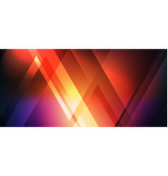 abstract red glowing neon shine geometric vector image