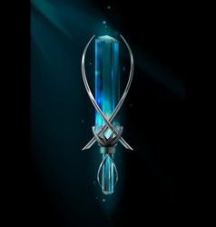 amulet with gemstone vector image