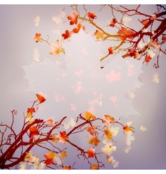 Autumn abstract floral background EPS 10 vector image