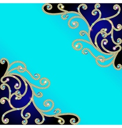 Background with gold pattern vector