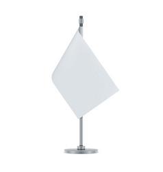 blank flag hanging on the metallic pole vector image
