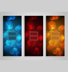 Bokeh lights banner designs vector