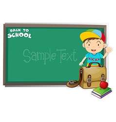 Border design with back to school theme vector