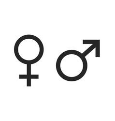 both gender symbol design set vector image
