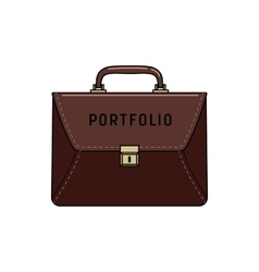 Briefcase portfolio icon vector