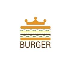 Burger king shop icon logo design vector