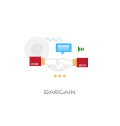 business agreement hand shake bargain concept flat vector image