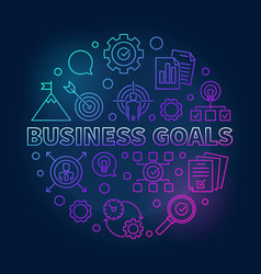 business goals round creative outline vector image