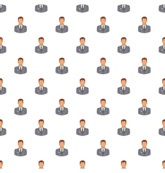 Businessman pattern cartoon style vector