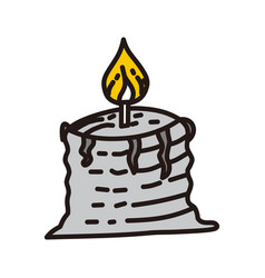 candle celebration design graphic template vector image