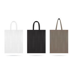 Canvas tote bag mockup for sale shopping sack vector