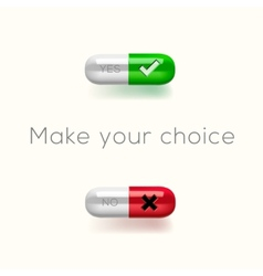 Choice between yes or no vector image