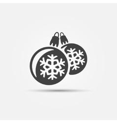 Christmas ball icons vector image