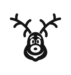 Christmas deer icon simple style vector image