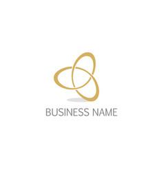 circle connection infinity company logo vector image