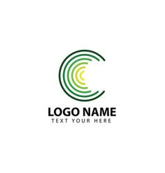 Circle logo template design vector