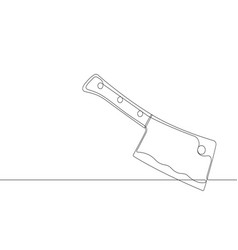 cleaver continuous line graphic vector image