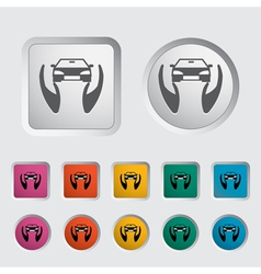 Concept car insurance vector image