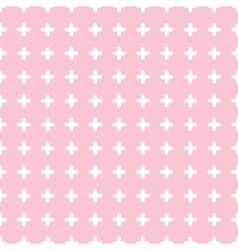 Cute colorful cross seamless pattern background vector image