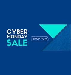 cyber monday sale shop now banner vector image