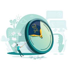 deadline time management business concept vector image