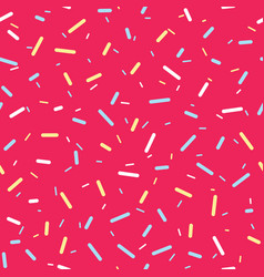 Donut glaze with colorful sprinkles seamless vector