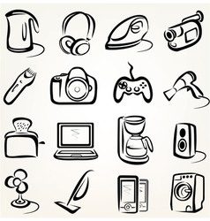 Electric goods icons vector