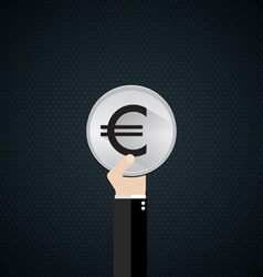 EUR currency symbol vector