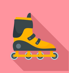 Extreme inline skates icon flat style vector
