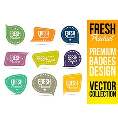 Fresh Product Logo Badge and Emblem vector image