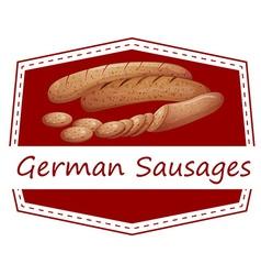 German sausages vector